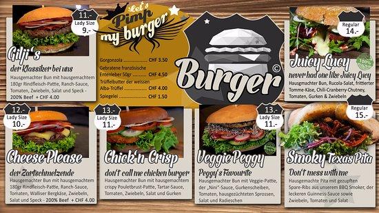 Leukerbad, Schweiz: Unsere 100% hausgemachten Premium-Burger