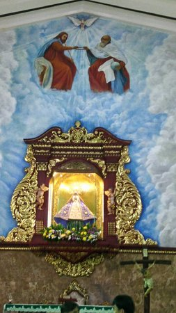 A Very Nice Altar with the Holy Trinity Painting on the Ceiling Wall