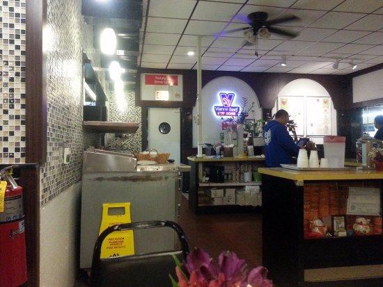 Morton Grove, IL: order counter and kitchen at Boba Burger