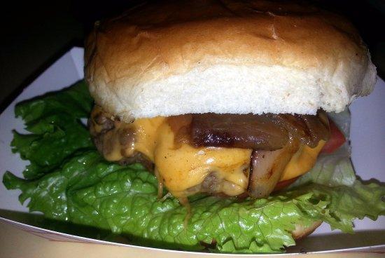 Morton Grove, IL: a Boba burger with cheese
