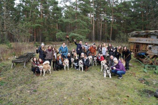 Lubben, Germany: Team Ausflug mit Huskies im November 2017