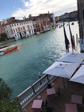 Hotel Palazzo Stern : Ponte de'll Academia from junior suite grand canal view 306.