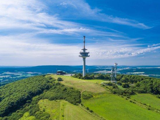 Lugde, Allemagne : Ein Luftbild des Köterberges.