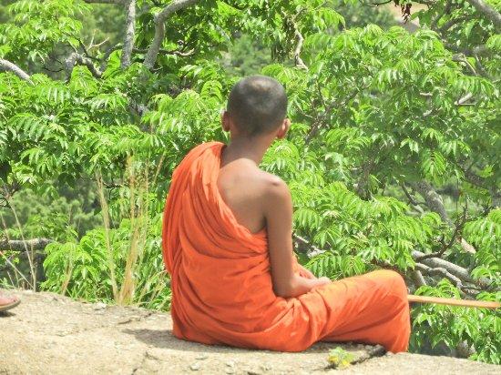 Dambulla, Sri Lanka: een jonge monnik