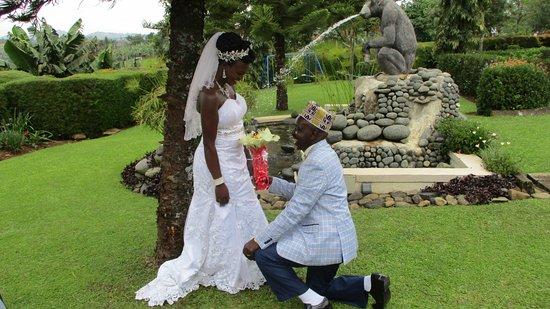 Fort Portal, Uganda: Garden photos for a newly wed couple.