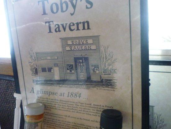 Coupeville, Etat de Washington : Table menu describing history