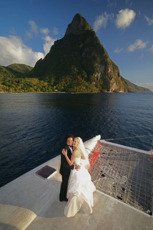 Gros Islet, Sta. Lucía: What a stunning place to be married