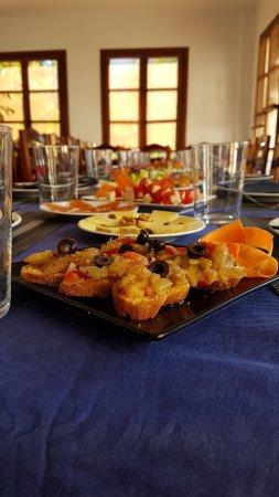 Orgiva, Spain: Mesas de grupos