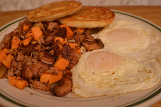 Kingston, MA: Southern Sweet Potato Hash and Eggs
