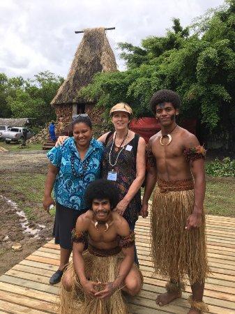 Suva, Fiyi: Owner Naisha, myself and 2 dancers, Orchid Island