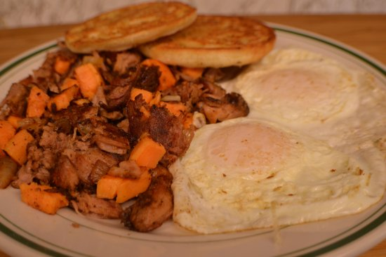 Mashpee, MA: Southern Sweet Potato Hash and Eggs