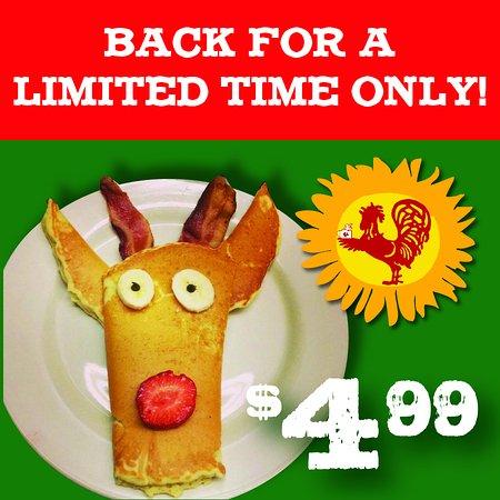 Mashpee, MA: REINDEER pancakes!!