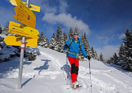 Styria, Österrike: Schneeschuhwandern ist auch eine besondere Herausforderungen im Naturpark