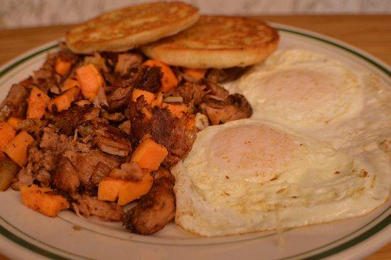 Middleboro, MA: Southern Sweet Potato Hash and Eggs