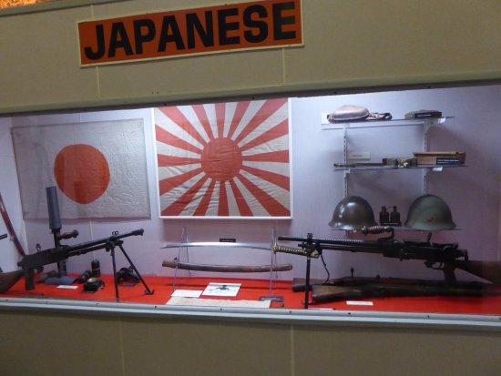 Indiana War Memorial : 日本軍の展示