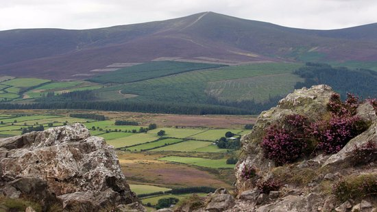 Greystones, Ireland: View over Wicklow Hills