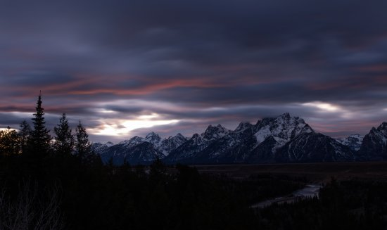 The Lexington at Jackson Hole: Snake river overlook at Sunset