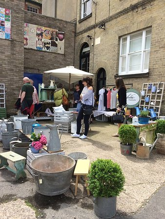 Outside stalls at the Halesworth Brocante.