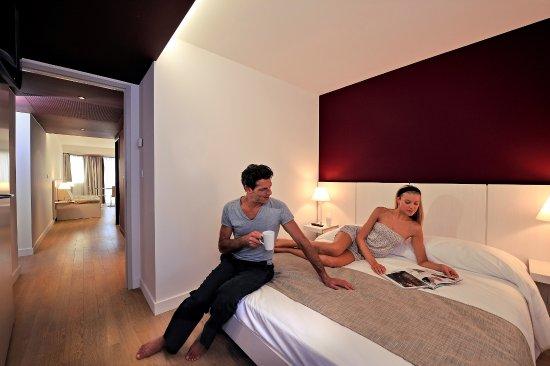 Resideal Premium Cannes: Exemple de chambre dans un 2Pièces