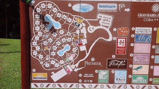 Grand Bahia Principe Coba : Plan du cite