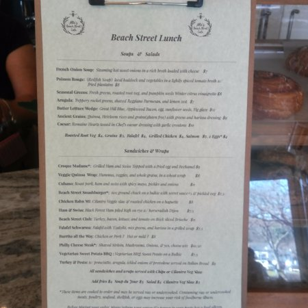 Manchester-by-the-Sea, MA: New lunch menus for Beach Street Cafe.
