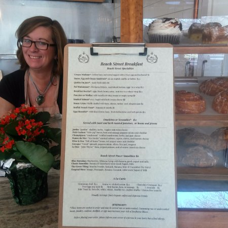 Manchester-by-the-Sea, MA: Breakfast Menu with frsh baked pastries
