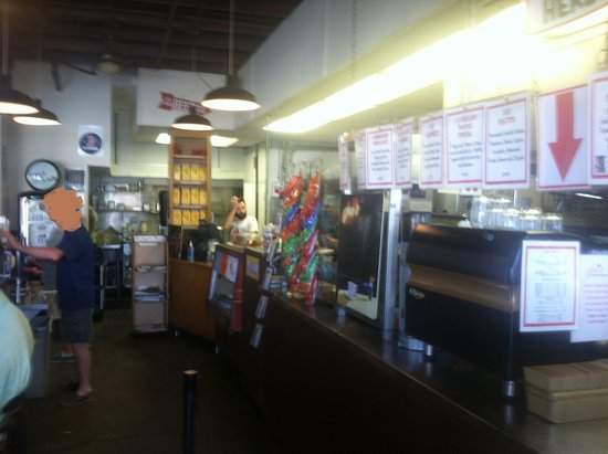 Joni's Coffee Roasting Cafe : view from front door...ordering line