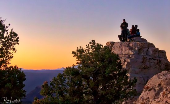 Grand Canyon Lodge - North Rim: On short walk from Lodge to Bright Angel Point for sunrise