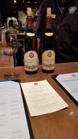 St. Helena, CA: Wine menu and wine