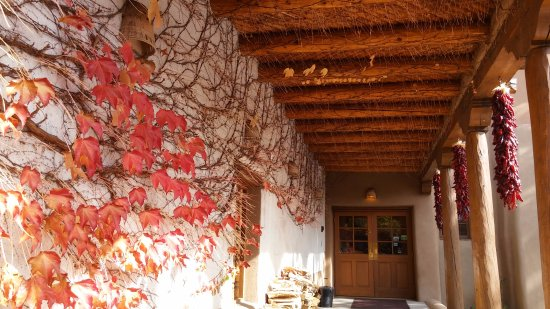 Inn on the Alameda: Late fall maples leaves with ristras
