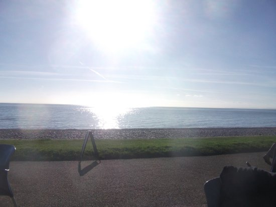 Budleigh Salterton, UK: View from the cafe