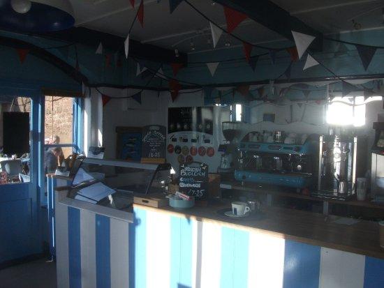 Budleigh Salterton, UK: The barista machine