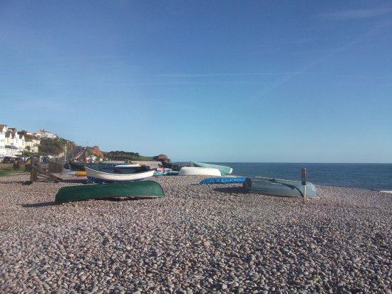 Budleigh Salterton, UK: Boats on Budleigh beach