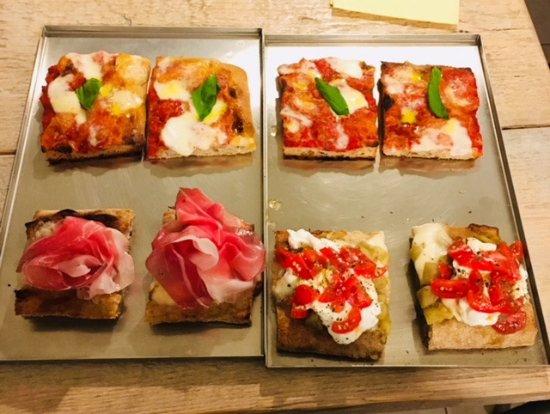 Ghevido: pizza bufala,pomodorini, burrata, prosciutto di cinta