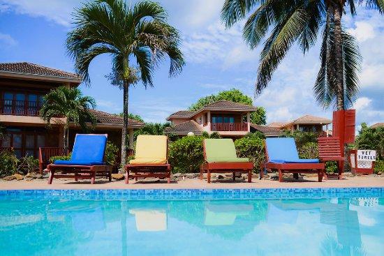 Poolside lounging at Belizean Dreams Resort