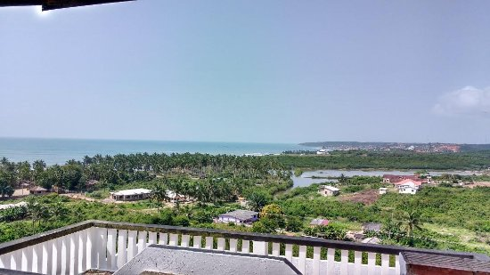 Anomabo, Ghana: Fantastic view whilst having breakfast!