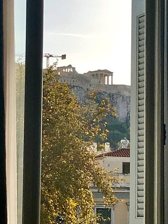 The Zillers Boutique Hotel: Acropolis view from Junior suite 101