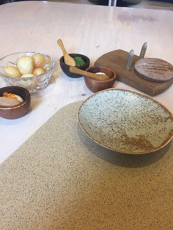 The Press Club : Salt and vinegar loukoumades, taramosalata