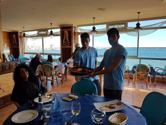 Cabo de Palos, Spanyol: Personale gentile e vista sul mare