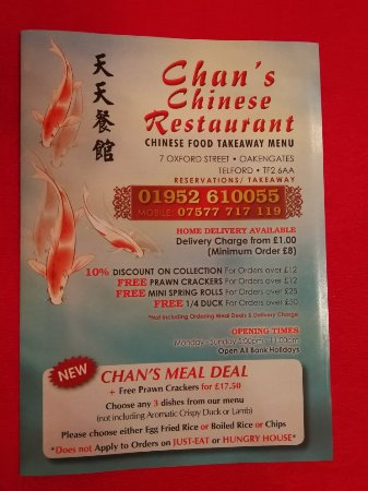 Chans Meal Deal Picture Of Chans Chinese Restaurant