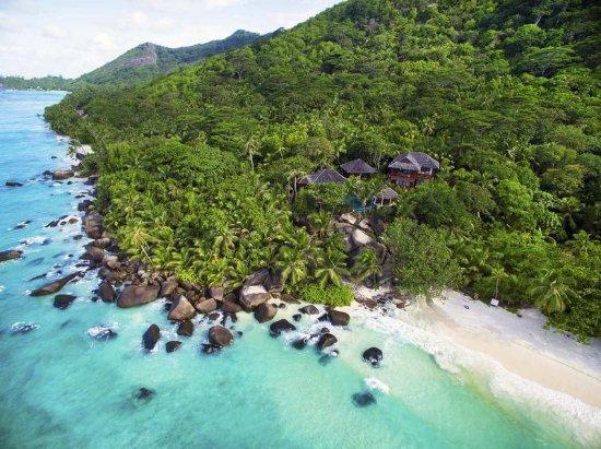 Silhouette Island, Seychellerne: Presidential Villa from the sky