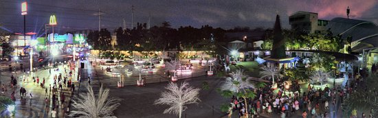 Panorama of Valenzuela People's Park at night.