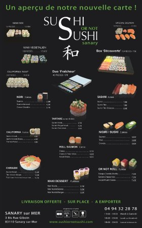 Nouvelle Carte Picture Of Sushi Or Not Sushi Sanary Sur