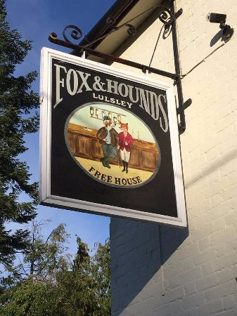 The Fox and Hounds at Lulsley: Pub Sign