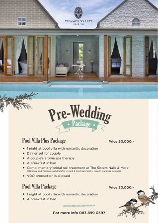 Thames Valley Khao Yai Pre Wedding Pool Villa Package