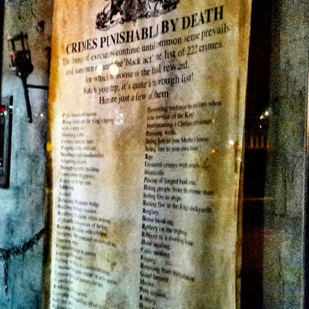 The London Dungeon : The huge list of crimes you would have been sentenced to death for back in medieval times in Lon