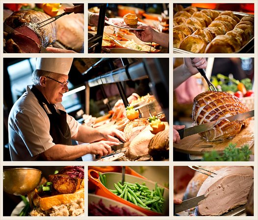 Cramlington, UK: Our carvery is served daily and our meats are roasted for 14 hours to ensure succulence!
