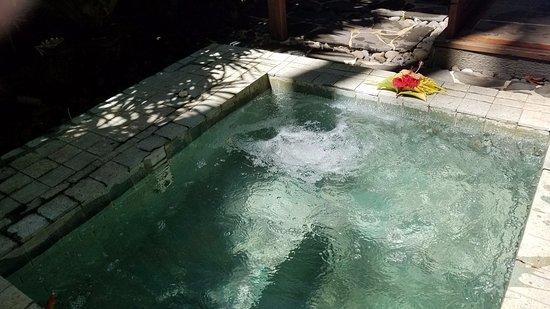Qamea Island, Φίτζι: our private outdoor whirlpool tub