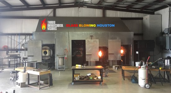 Tomball, TX: There's always a seat available to view our glass making.