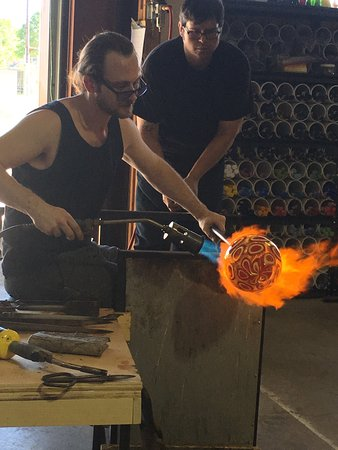 Tomball, TX: The Three Dimensional Vision glass makers adding some heat.